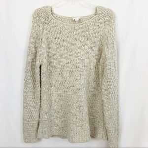 Chico's Chunky Cream Basket Weave Sweater